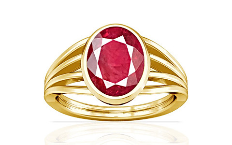 Ruby (Old Burma) Gold Ring (A7)
