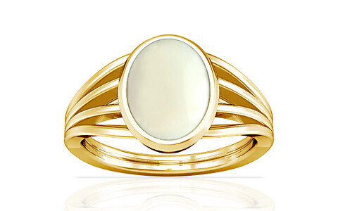 White Coral Gold Ring (A7)