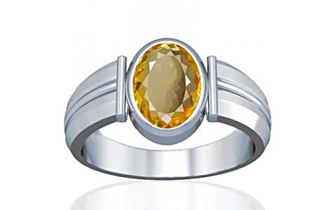 Citrine Silver Ring (A9)