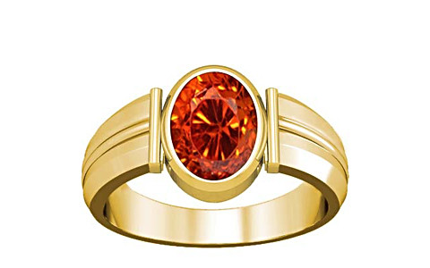 Orange Cubic Zirconia Gold Ring (A9)