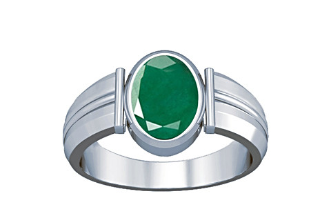 Emerald Silver Ring (A9)