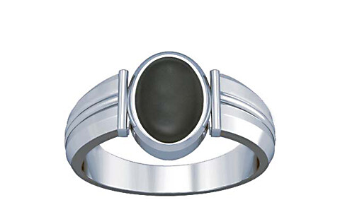 Gray Moonstone Silver Ring (A9)