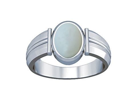 Moonstone Silver Ring (A9)
