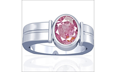 Pink Sapphire Sterling Silver Ring (A9)