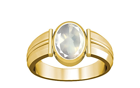 Rose Quartz Gold Ring (A9)