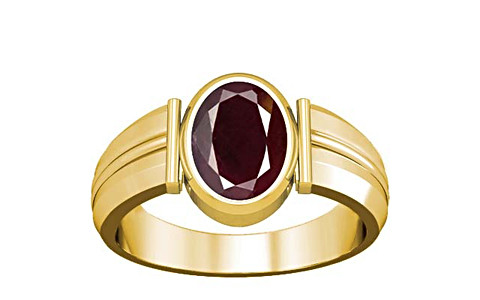 Indian Ruby Gold Ring (A9)