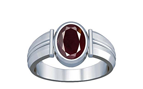 Indian Ruby Sterling Silver Ring (A9)