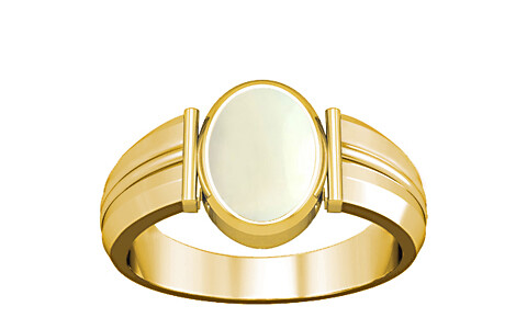 White Coral Gold Ring (A9)