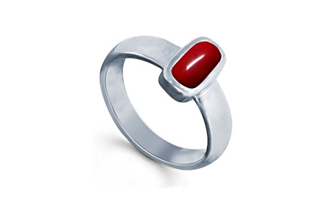 Red Coral Silver Ring (AC1)