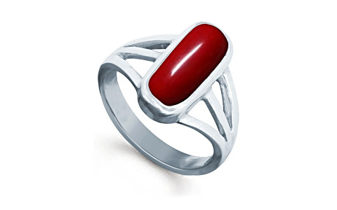Red Coral Silver Ring (AC3)