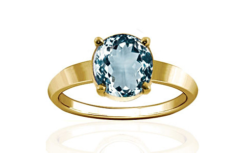 Aquamarine Gold Ring (A18)