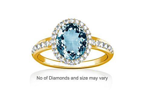 Aquamarine Gold Ring (R1-Dazzle)