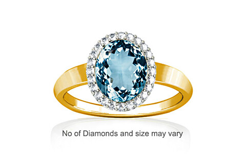 Aquamarine Gold Ring (R1-Sparkle)