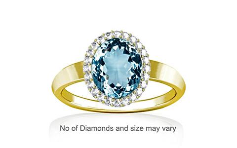 Aquamarine Panchdhatu Ring (R1-Sparkle)
