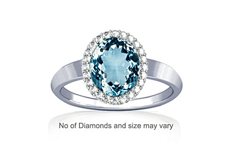 Aquamarine Sterling Silver Ring (R1-Sparkle)