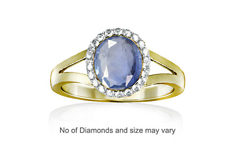Blue Sapphire Panchdhatu Ring (R1-Dazzle)