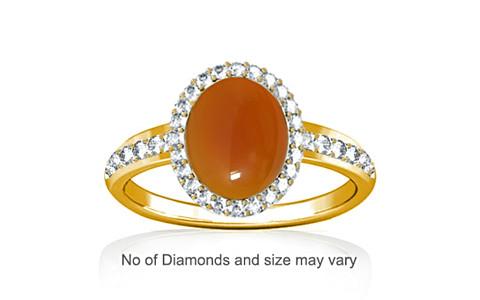 Carnelian Gold Ring (R1-Dazzle)