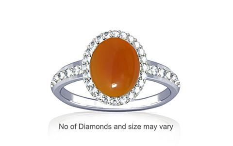 Carnelian Sterling Silver Ring (R1-Dazzle)