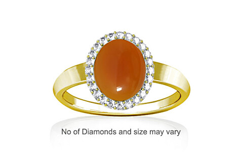Carnelian Panchdhatu Ring (R1-Sparkle)