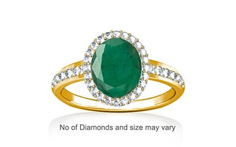 Emerald (Brazil) Gold Ring (R1-Dazzle)