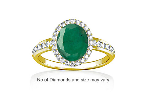Emerald (Brazil) Panchdhatu Ring (R1-Dazzle)