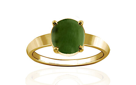 Nephrite Jade Gold Ring (A18)