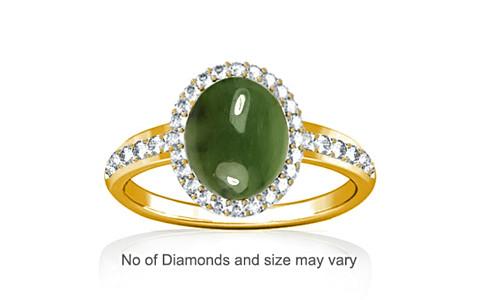 Nephrite Jade Gold Ring (R1-Dazzle)