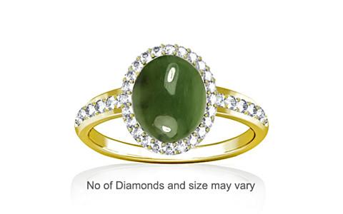 Nephrite Jade Panchdhatu Ring (R1-Dazzle)