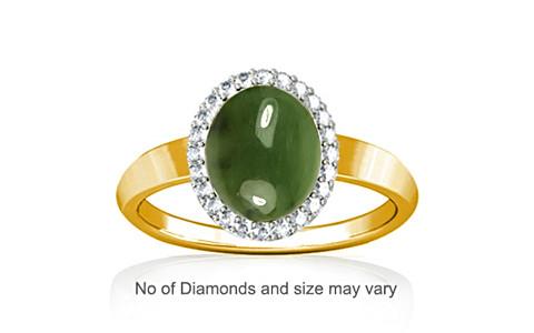 Nephrite Jade Gold Ring (R1-Sparkle)