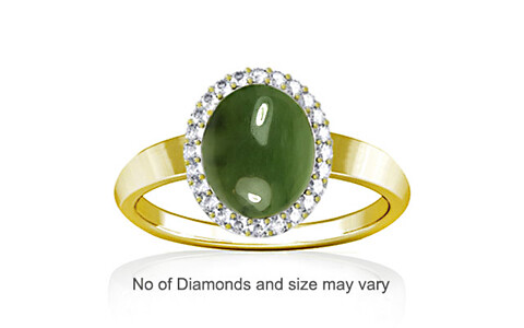 Nephrite Jade Panchdhatu Ring (R1-Sparkle)