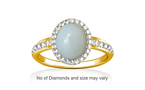 Moonstone Gold Ring (R1-Dazzle)