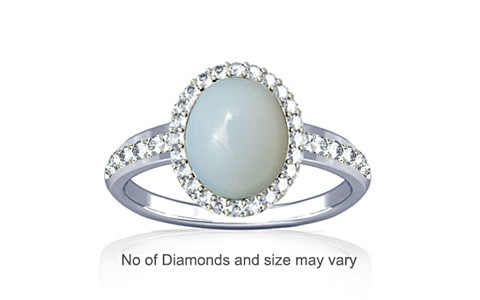 Moonstone Sterling Silver Ring (R1-Dazzle)