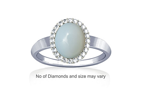 Moonstone Sterling Silver Ring (R1-Sparkle)