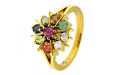 Navratna Gold Ring (N1)
