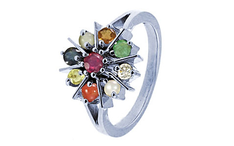 Navratna Sterling Silver Ring (N1)