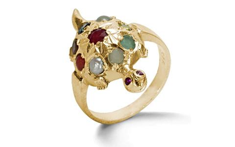 Navratna Gold Ring (N2)