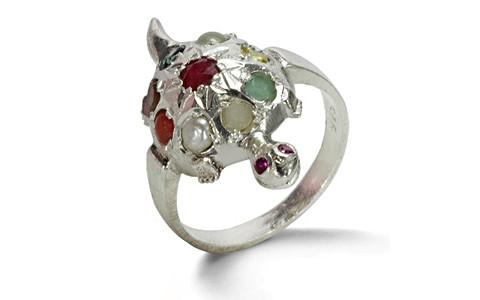 Navratna Sterling Silver Ring (N2)