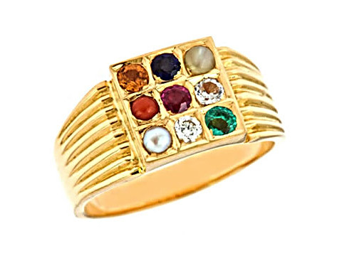 Navratna Gold Ring (N3)