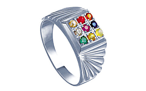Navratna Sterling Silver Ring (N5)
