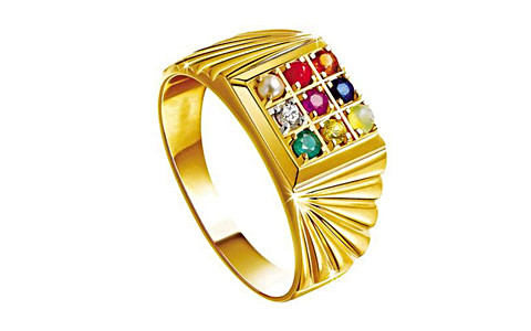 Navratna Gold Ring (N5)