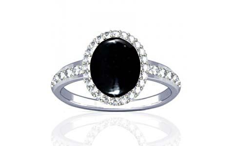 Black Onyx Sterling Silver Ring (R1-Dazzle)