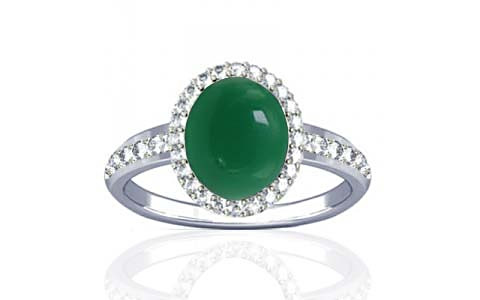 Green Onyx Sterling Silver Ring (R1-Dazzle)