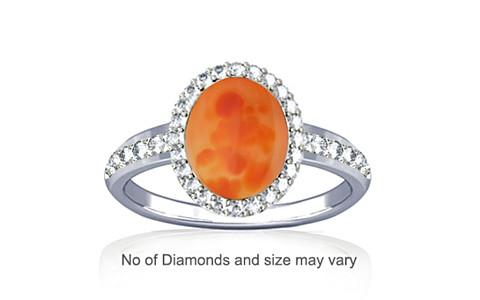 Orange Onyx Sterling Silver Ring (R1-Dazzle)