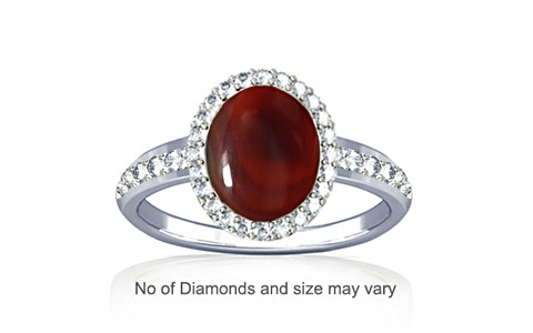 Red Onyx Sterling Silver Ring (R1-Dazzle)
