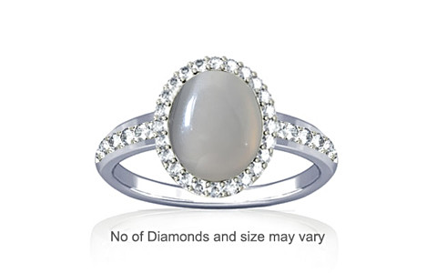 White Onyx Sterling Silver Ring (R1-Dazzle)