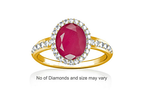 Pink Sapphire Gold Ring (R1-Dazzle)