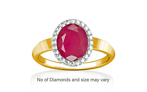 Pink Sapphire Gold Ring (R1-Sparkle)