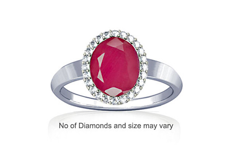 Pink Sapphire Sterling Silver Ring (R1-Sparkle)