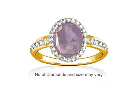 Purple Sapphire Gold Ring (R1-Dazzle)