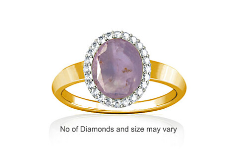 Purple Sapphire Gold Ring (R1-Sparkle)